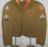 WW2 Occupation Ike Jacket W/Theater Made Ribbon Bars-3rd Army & Constabulary Bullion Patches