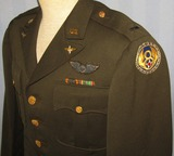 WW2  8th Army Air Forces 4 Pocket Officer's Tunic-Bullion Navigator Wings-Named