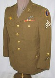 WW2 Period 3rd Army Air Force 4 Pocket Tunic For Enlisted Bombardier-Wings-Bullion Patch
