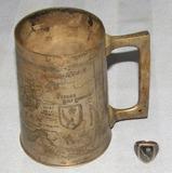 2pcs-WW2 Engraved U.S. Persian Gulf Command Tankard/Men's Ring