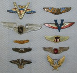 10pcs-WW2 Period Sweetheart Wings-Several Are Rare Uncommon Variants-Sterling