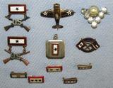 11pcs-WW2 Period Sweetheart Jewelry-Son-In-Service-Rare Gold Star KIA Pin