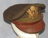 WW2 Period U.S. Army/Army Air Corp Officer's True Crusher Visor Cap