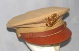 WW2 Period U.S. Army/Army Air Corp Khaki Visor Cap By KNOX-Named To Jewish Officer