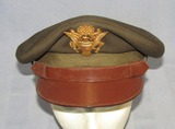 WWII Period U.S. Army/Air Corp Officer's OD Visor Cap-Named-Quality Maker Of