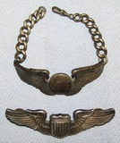 2pcs-WW2 Period U.S. Army Air Force Pilot Wings-8th AAF ROTC Bracelet