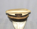WW2 Period USN Ensign/Lt. Commander White Top Visor Cap-Named