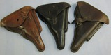 3pcs WW1/WW2 Period German Luger Holsters-All Have Been Modified/Stitch Separation
