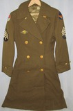U.S. Women's W.A.A.C. Serge Wool Double Breasted Overcoat-Air Transport Command-Named