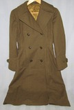 Scarce WW2 Women's Army Corp (WAC) Double Breasted Serge Wool Overcoat-Size 10R