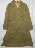 Scarce WW2 Period U.S. Army Nurse's/WAC OD Poplin Field Overcoat W/Wool Button In Liner