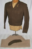 WW2  U.S. Army Nurse Officer's Ike Jacket/Cap/Shirt/