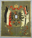 Unique WW1 German Navy Embroidered Silk Tapestry