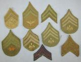 9pcs-Scarce WW1 U.S. Army Aviation/Signal Corp Rank Stripe Grouping