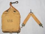 2pcs-WW1/Pre WW2 U.S. Cavalry Canteen W/Canvas Case-M1903 Canteen Strap-