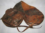 M1904 U.S. Cavalry Leather Saddlebags With Original Liners/Straps-BOYT