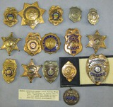 ***DO NOT BID ON THIS LOT! *** Vintage Police Related Badge Collection Photo Only
