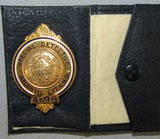 Scarce & Obsolete Vintage Atlantic City, NJ Special Detective Badge With Leather Holder-Numbered