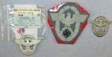 3pcs-1st & 2nd Type WW2 German Police Cap Eagles-Sleeve Eagle