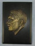 WW2 Period Hitler Head Side View Plaque