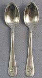 Pair Of Nazi Leader Fritz Saukel Monogram Demitasse Spoons-
