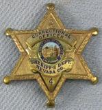 Scarce & Obsolete Vintage Nevada Sheriff's Dept. Correctional Officer Numbered Badge