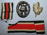 *JUST ADDED*4PCS-1st Pattern Legion Condor Cut Out Black Wound Badge-FreiKorps Cap Badge