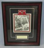 Original Luftwaffe Ace  Erich Hartmann Signature Framed Display