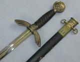 Early Nickel Fittings Luftwaffe Officer's Sword W/Scabbard-Named-Eickhorn Maker
