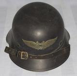2nd Type 2 Piece Luftschutz Helmet With Chin Strap