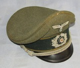 Wehrmacht Signals Officer's Visor Cap-Bullion Insignia-SCHELLENBERG Maker