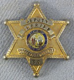 Scarce & Obsolete Vintage Chesterfield County, SC Deputy Sheriff's Badge-Initials On reverse
