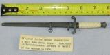 Scarce WW2 Period Miniature Wehrmacht Officer's Dagger