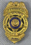 Scarce & Obsolete Vintage Fairfield County, Conn. Special Deputy Sheriff Badge-Named-