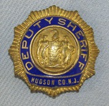 Scarce & Obsolete Vintage Hudson County, N.J. Deputy Sheriff Badge-Circa 1930-40's