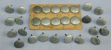 Rare Lot Of 29 Early SA/SS Kepi Buttons-RZM Marked