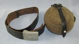 WW2 German Enlisted Soldier Belt W/Buckle-Canteen