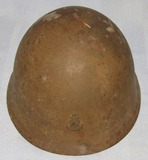 WW2 Japanese Naval Landing Forces Helmet Shell With Insignia