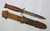 WW2 Blade Marked M3 Fighting Knife By Camillus With Fiber Scabbard