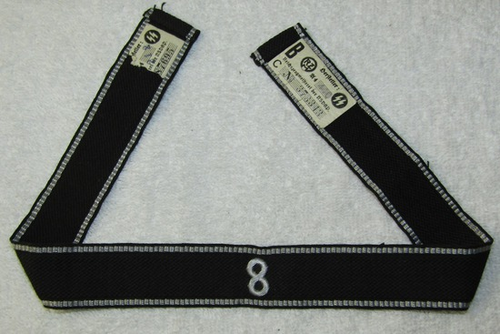 "Allgemeine SS RZM Embroidered Officer's Cuff Title For ""Standarte 8"""