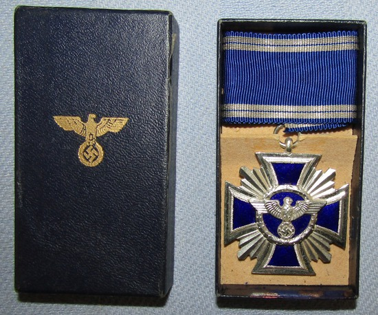 Rare WW2 Period NSDAP 15yr Long Service Medal W/Issue Box-C.E. Juncker