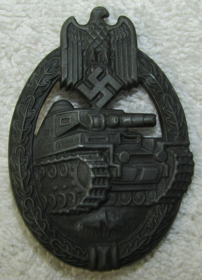 Panzer Assault Badge-Silver Grade-Frank & Reif