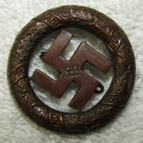 Early 3rd Reich 1933 Gau Munich Commemorative Honor Badge By Deschler & Sohn