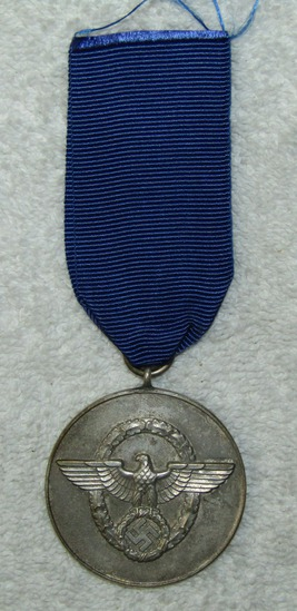 8yr Nazi Police Long Service Medal With Ribbon