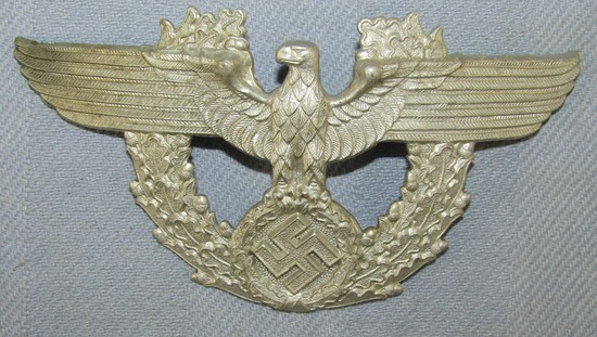 Nazi Police Shako Eagle-Maker Marked