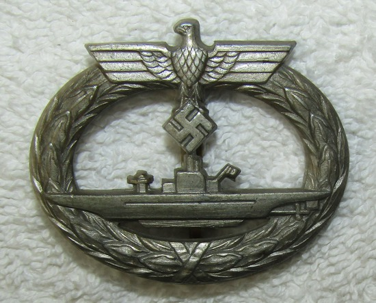 Mid War Kriegsmarine U-Boat Badge-L/56 Maker Marked