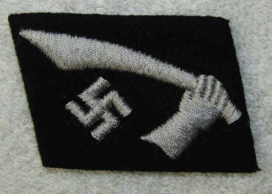 "Waffen SS Foreign Volunteer  13th Mountain ""HANDSCHAR"" Division Collar Tab For EM"