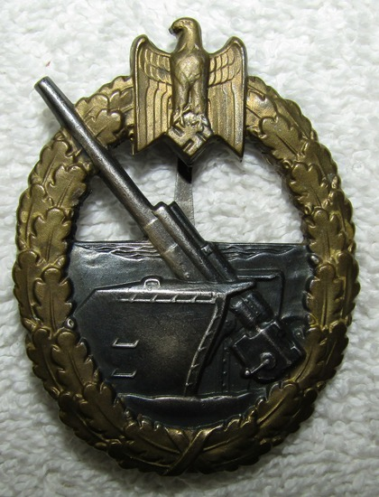 Early Coastal Artillery Badge-SCHWERIN BERLIN