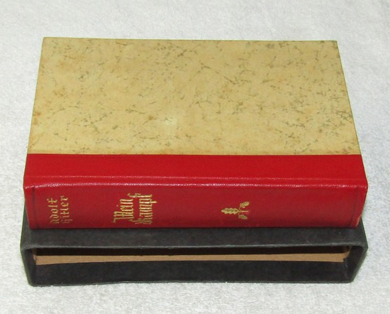 Rare Presentation Wedding Edition Mein Kampf W/Red Spine-1937 Copyright