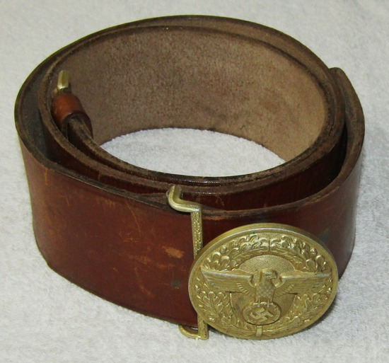 Political Leader Belt Buckle With leather Belt